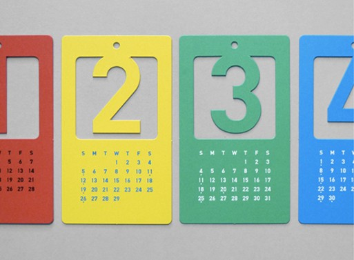 Cut Out Number Calendar