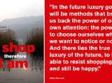 "David Report bulletin: ""I shop therefore I am"""