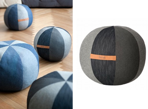 Denim Poufs by Ferm Living