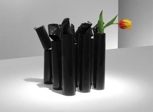 Ran-Over-By-Car Vase