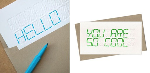 DIY Screenprinted LCD card