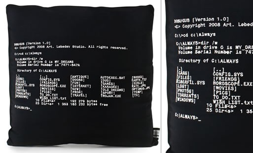 Dosugus Dos Embroidered Pillow