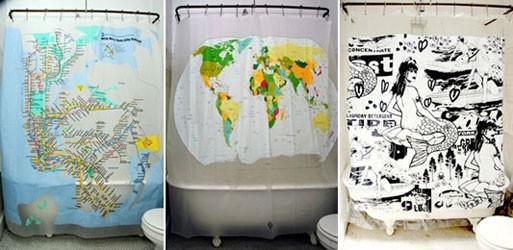 Izola's shower curtains