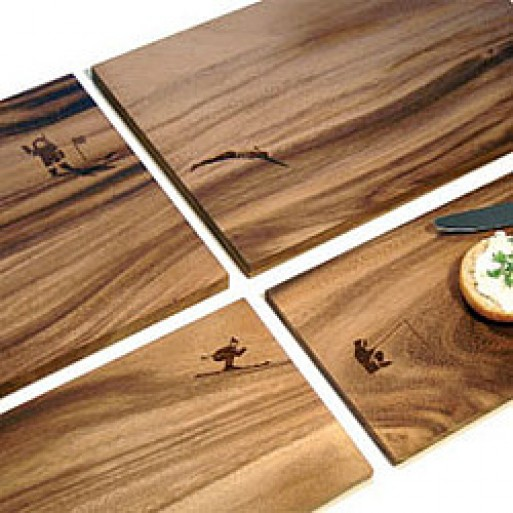 Wooden Cutting Boards (with engraved design)