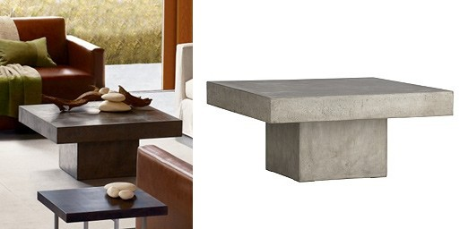 Element Coffee Table Coffee Tables Better Living Through Design - Cb2 cement table