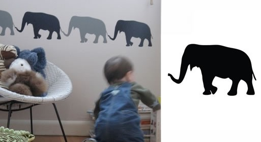 Elephants wall graphic