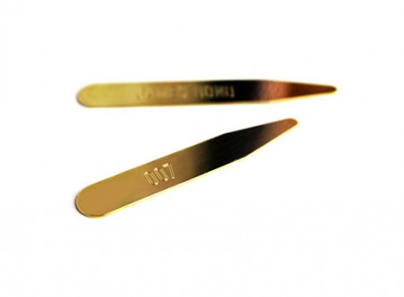 Six Customized Brass Collar Stays