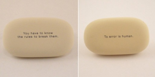 Erasers (with quotes)