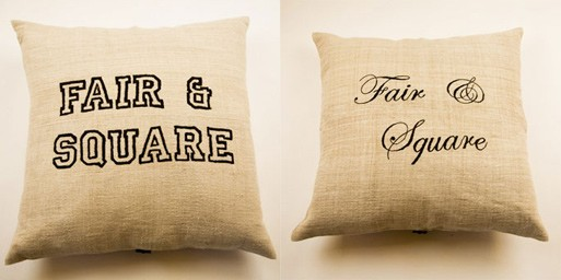 Fair & Square Pillow