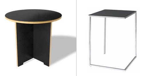 Linear Round and Fergie Side Tables