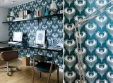 Inspiration: Wallpaper in an office