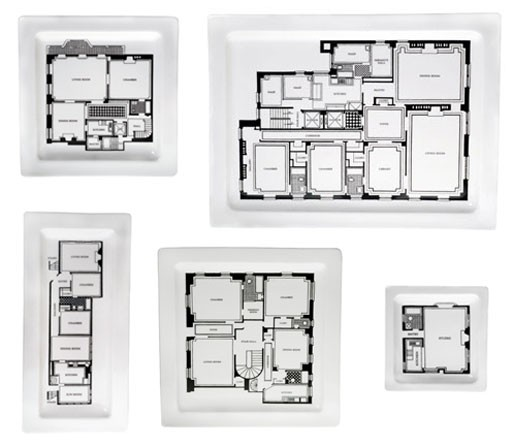 Floor Plan Plates and Platters