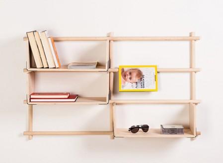 Foldin, Wall Mounted Modular Bookcase