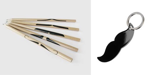 Mustache Pencils & Keyring