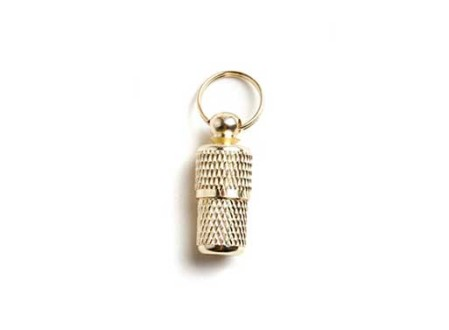 Brass ID Tube Charm by Bethany Obrecht