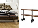 French Industrial Coffee & Console Table