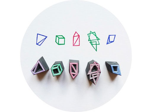 Hand Carved Geometry Stamp Set