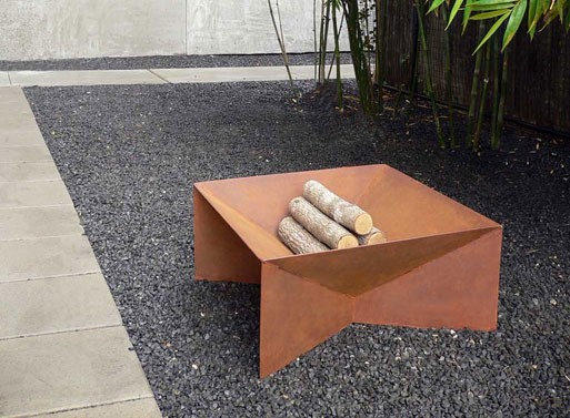 Geometric Fire Pit - Geometric Fire Pit — ACCESSORIES -- Better Living Through Design