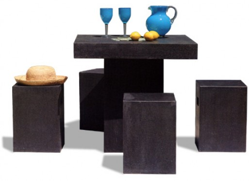 Terrazzo Square Table and Stools