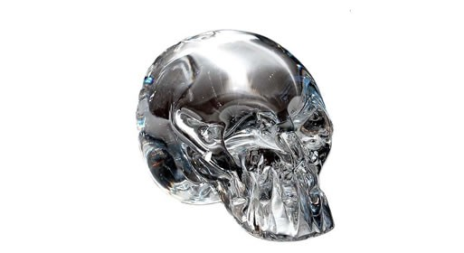 hand-made glass skulls by esque design