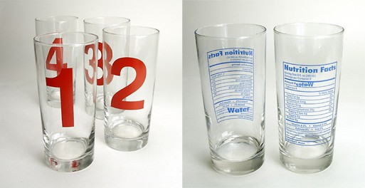 Number and Nutrition Water Glasses