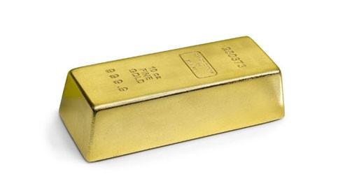 Gold Brick Door Stop