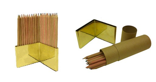 Colored Pencil and Brass Holder Set