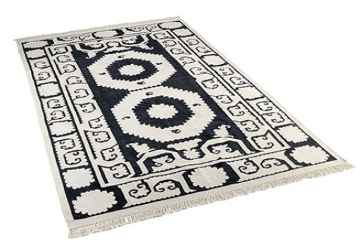 Graphic Suzani-Inspired Dhurrie Rugs