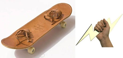 'Tougher than Leather' Skateboard & 'Zeus' Letter Opener