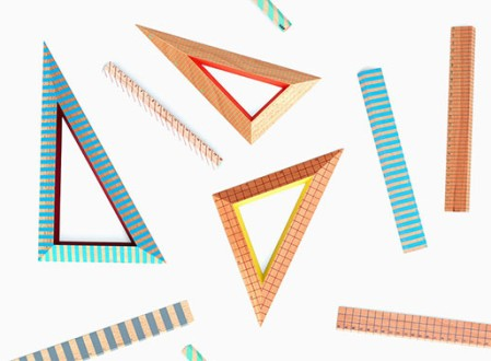 Hay's Wooden Ruler Triangle Set