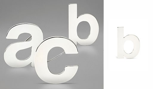 Helvetica Brooches