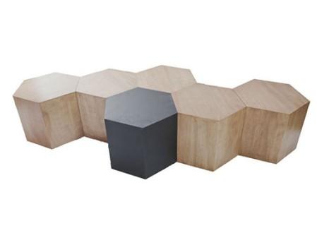 Hexagon Wood Table