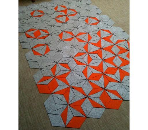 Hexagonal Modular Felt Rug