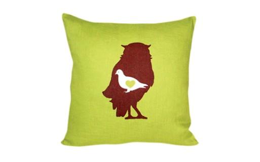 Audubon pillow (celadon)