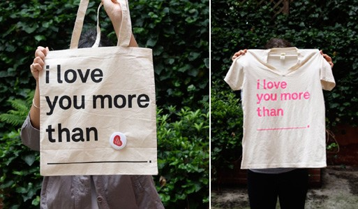 'I love you more than' Tote by paperwhite studio