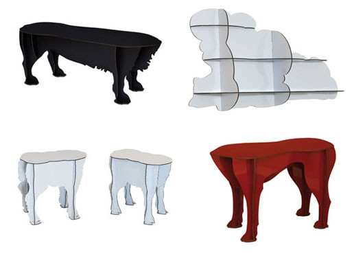 iBride Stools and Cloud Shelves