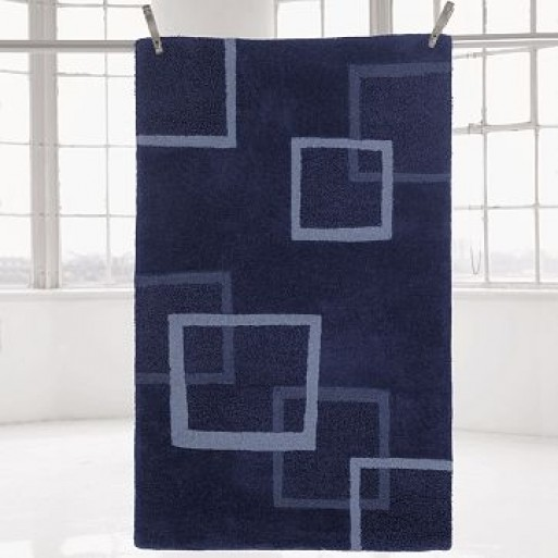 8′ x 10′  overlapping squares graphic rug
