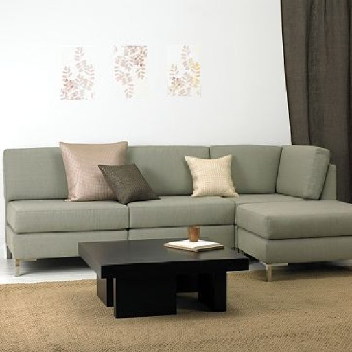 armless sectional from west elm
