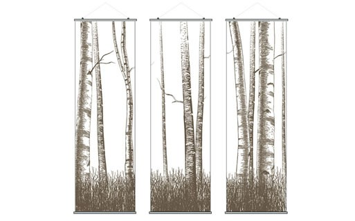 Inhabit Triptic Slats Hanging Panels