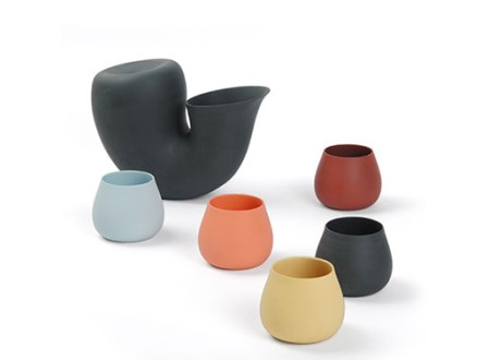 Jug + Cup by Aldo Bakker for Particles