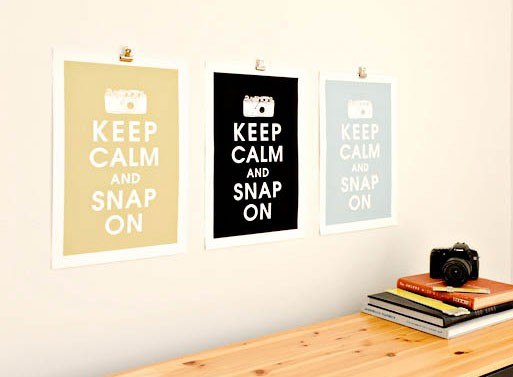 Keep Calm and Snap On Print