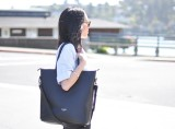 DAAME Leather Laptop Tote