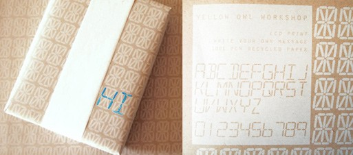 LCD Write Your Own Message Gift Wrap