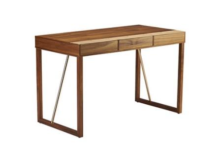 Leather Trim Storage Desk