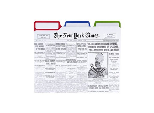New York Times File Folders