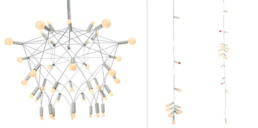 Patrick Townsend: Orbit Chandelier and String Lights