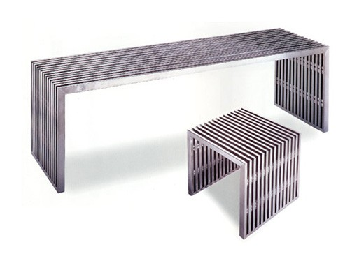 Stainless Steel Bench and Stool