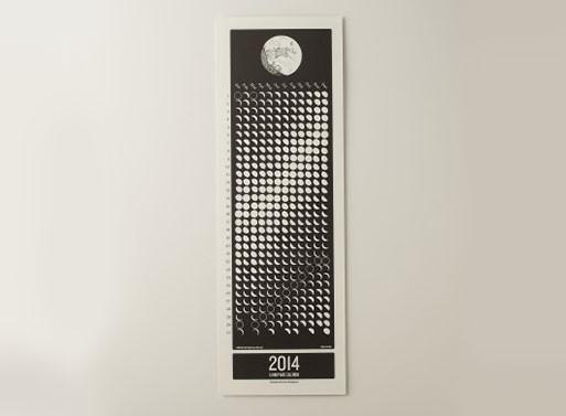 Lunar Wall Calendar 2014