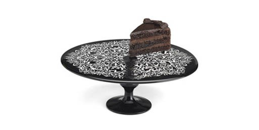 Black Lace Cake Stand