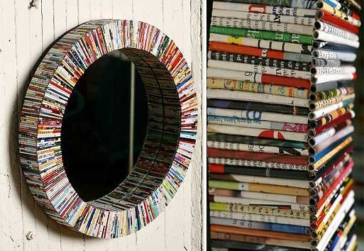 Recycled Magazine Mirror Accessories Better Living